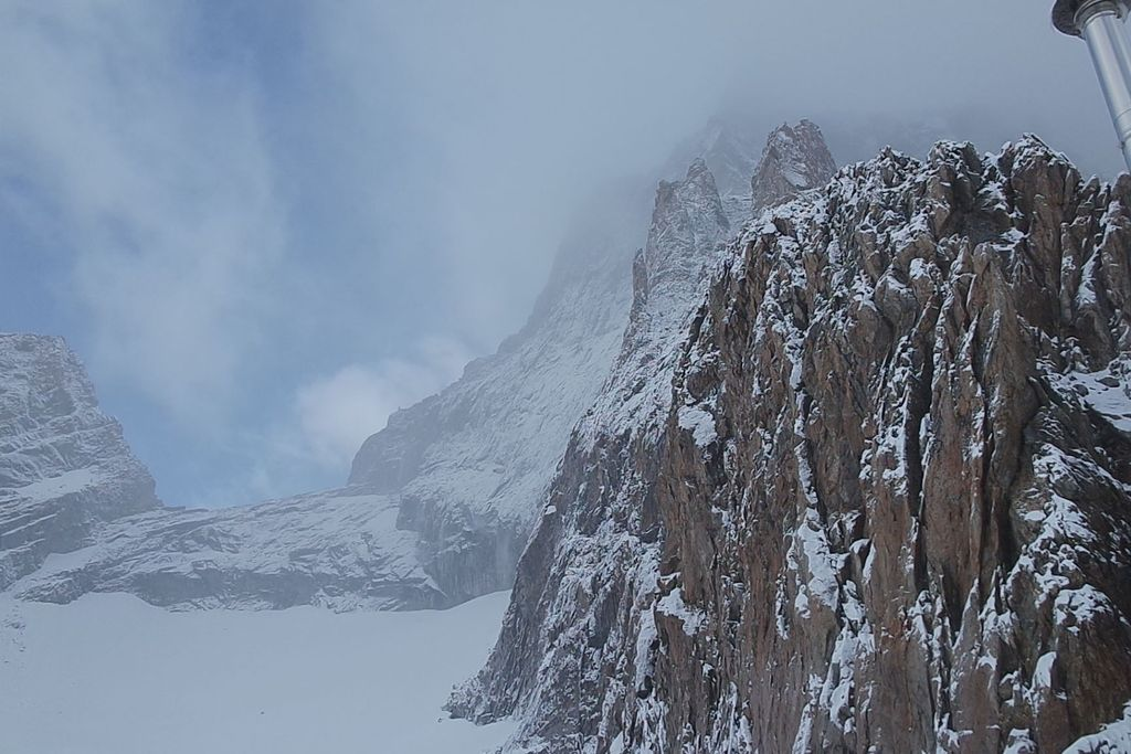 Uitzicht vanuit de Promontaire hut boven La Berarde