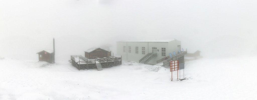 Sneeuw op 3000 meter in La Plagne