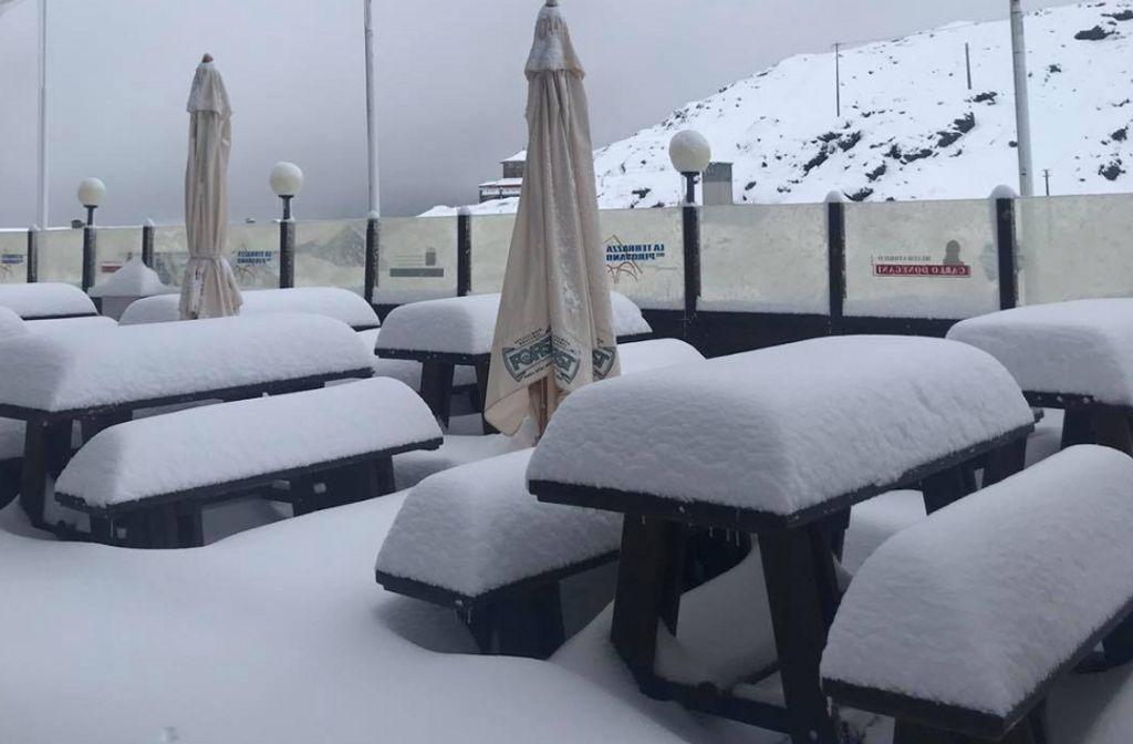 20 cm sneeuw op de Stelvio