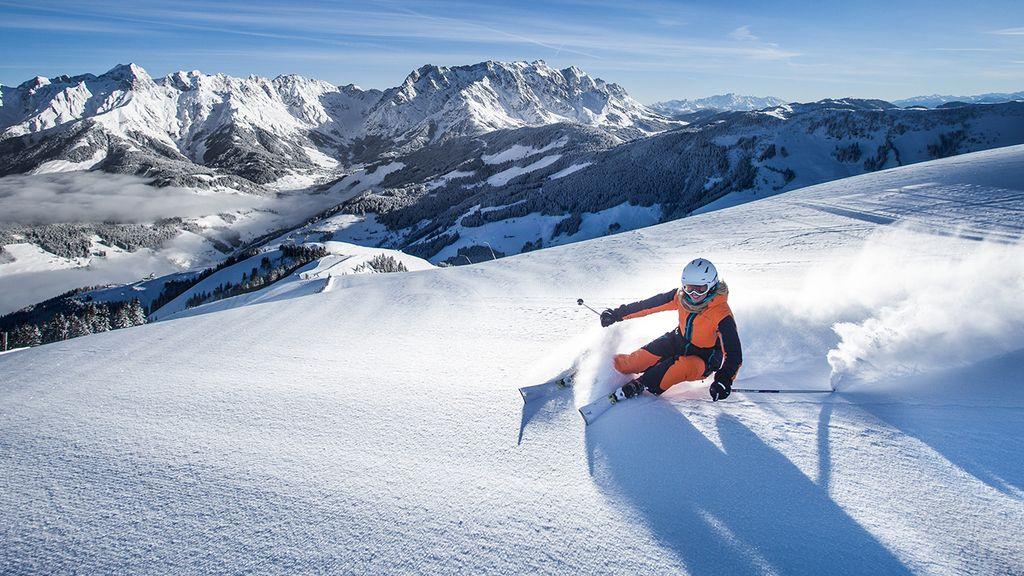 Heerlijk skiën in het sneeuwzekere Höchkonig