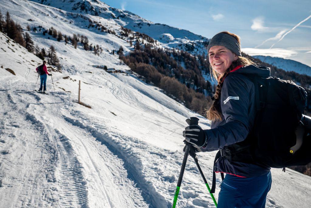 Skitoeren door het gebied Espace Dent-Blanche