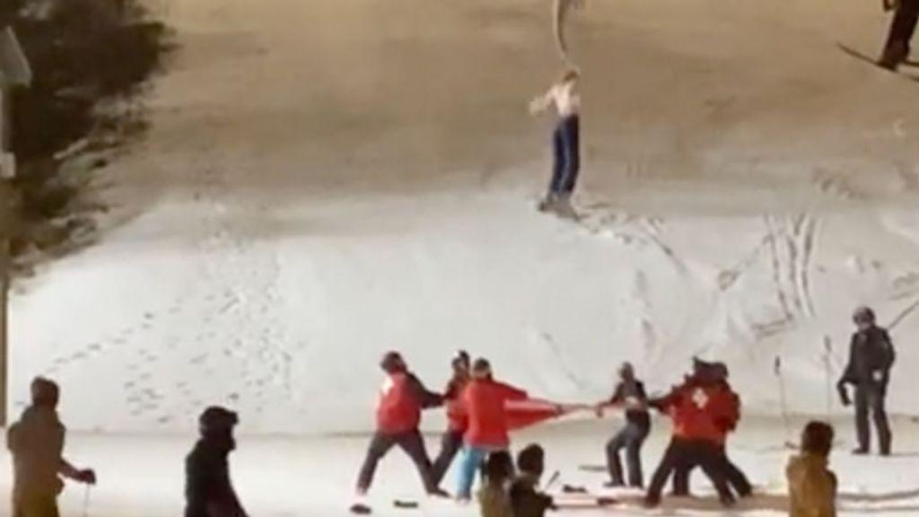 Skilift-ongeluk