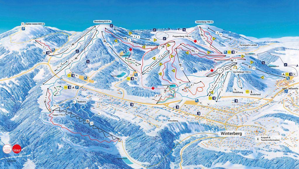 Pistekaart Skiliftkarussell Winterberg (2019-2020)