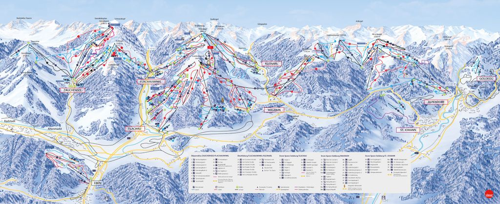 Pistekaart Flachau Snowspace Salzburg (2020-2021)