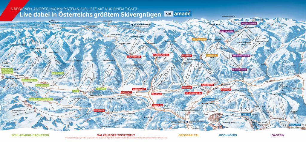 Pistekaart Ski amadé