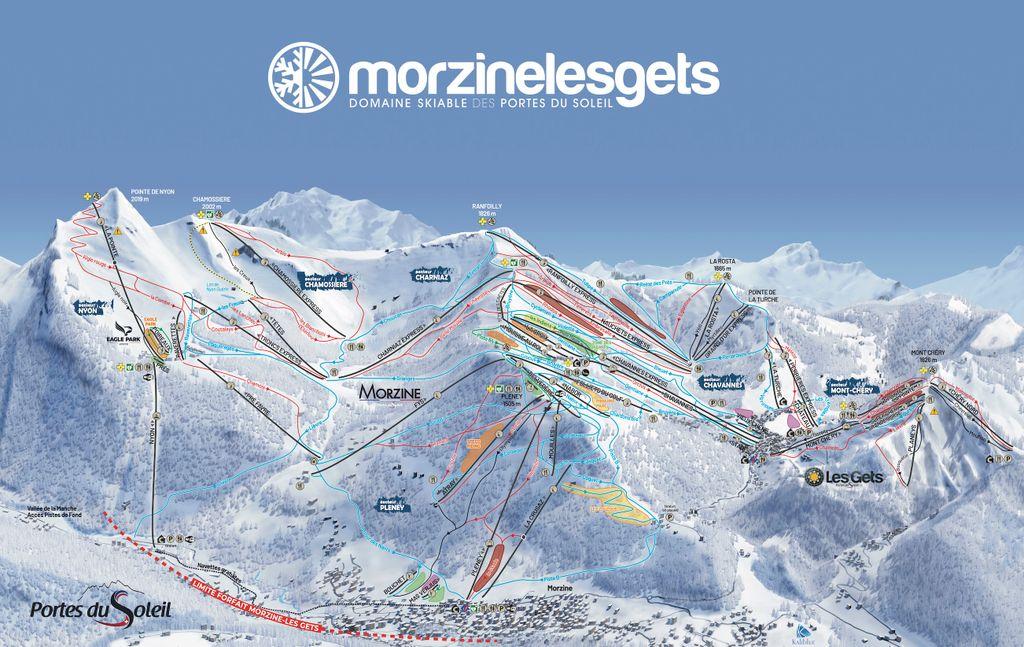 Pistekaart Morzine-Les Gets