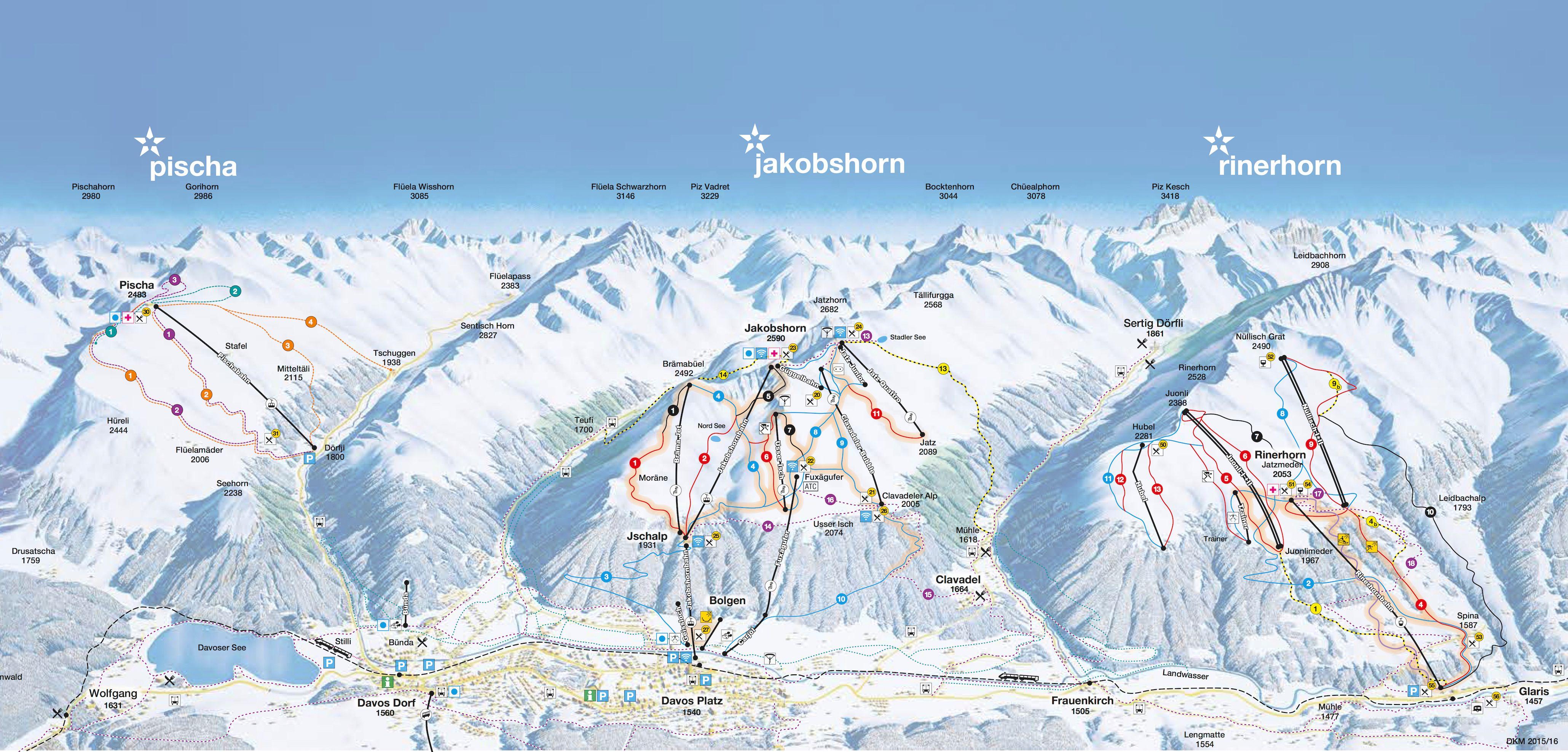 Pischa - Jakobshorn - Rinerhorn