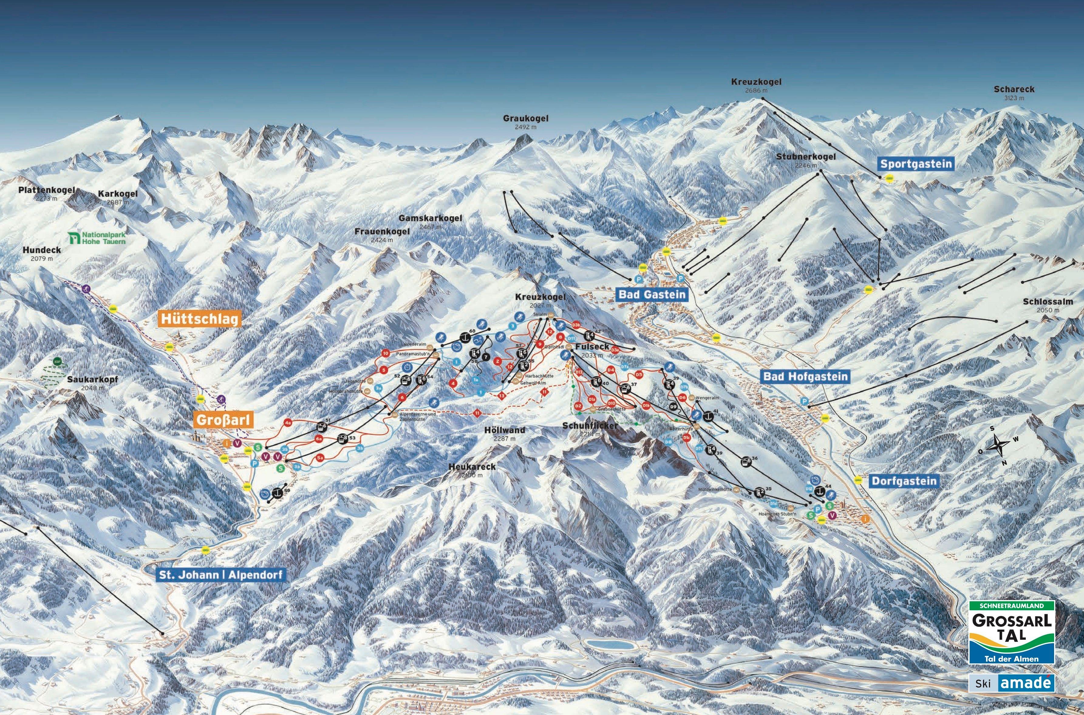 Skischaukel Dorfgastein Großarltal