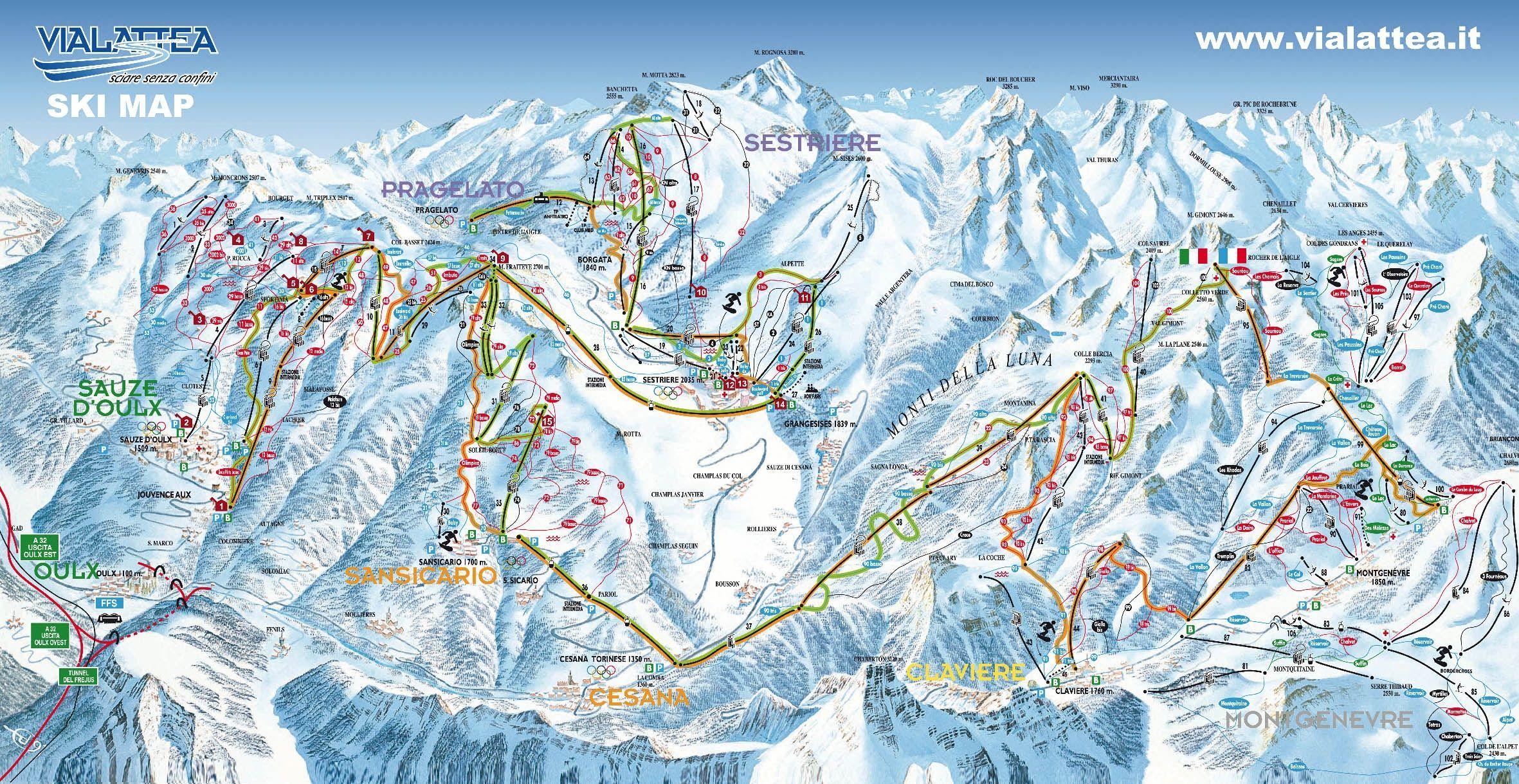 Skigebied Sestrière