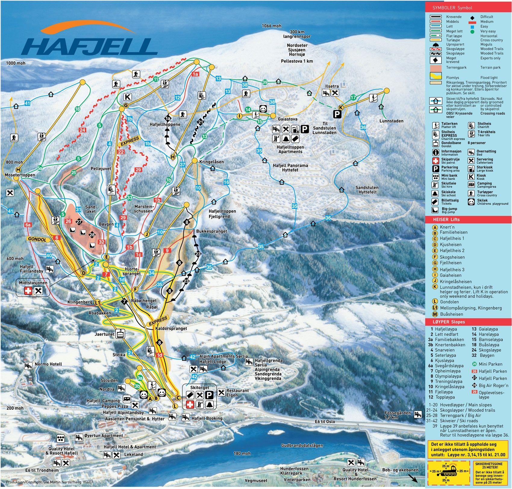 Hafjell Skigebied Met 44 Km Piste In Noorwegen