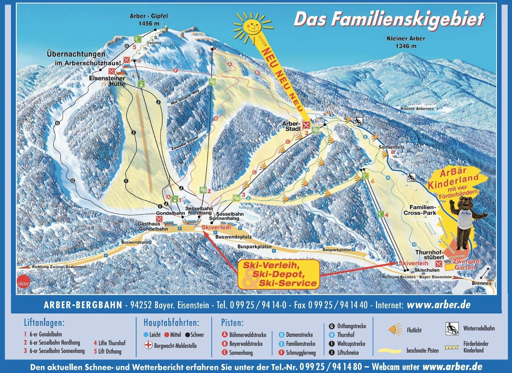 Pistekaart Bodenmais Wintersport Dorp Met 13 Km Piste In Duitsland