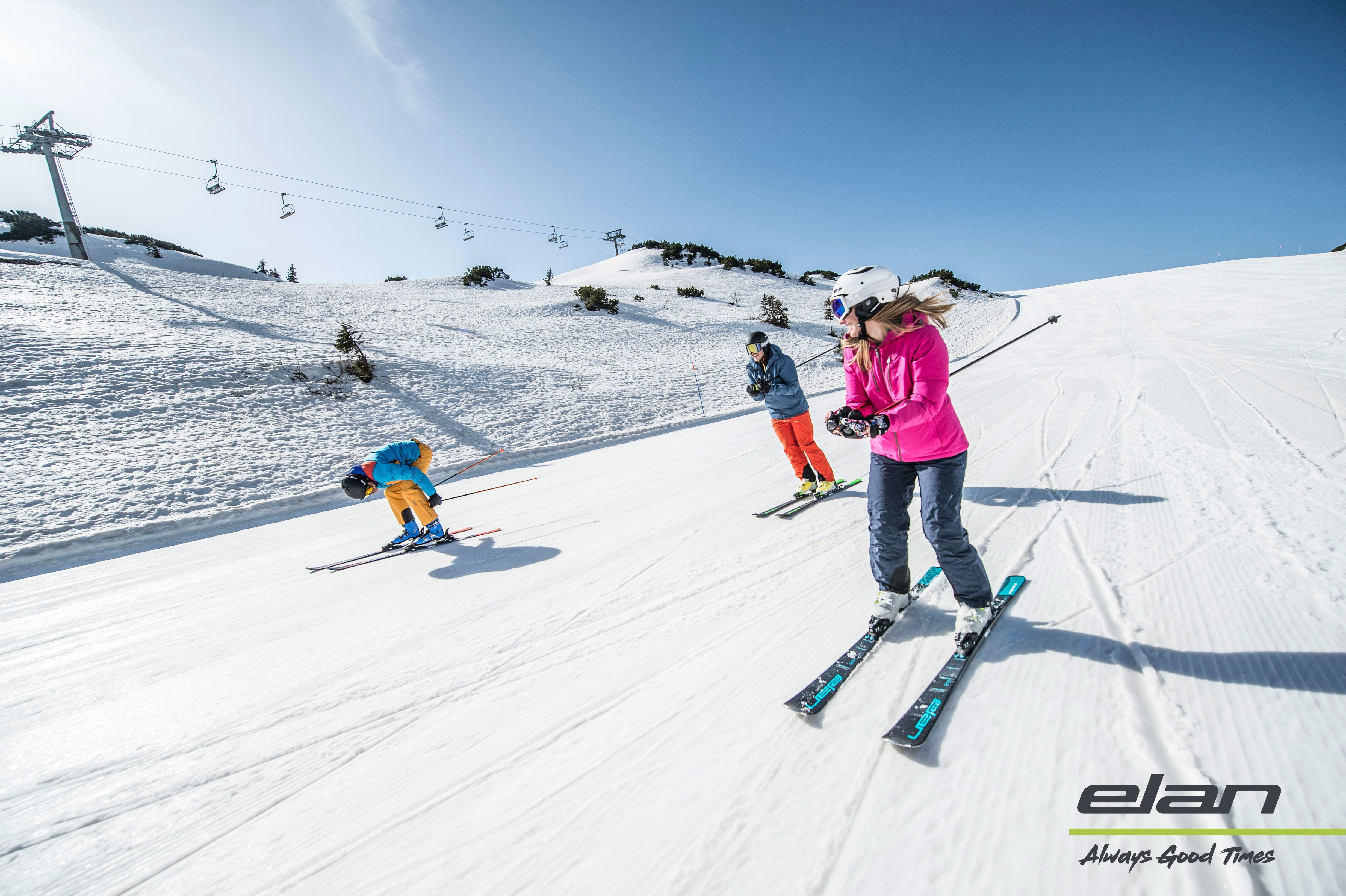 Puur genieten op de ski's van Elan