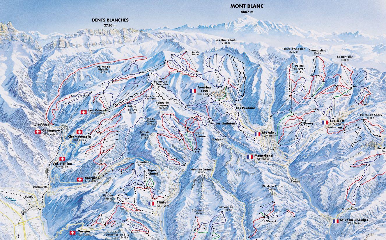 De Magie Van Grensoverschrijdende Skigebieden Wintersport