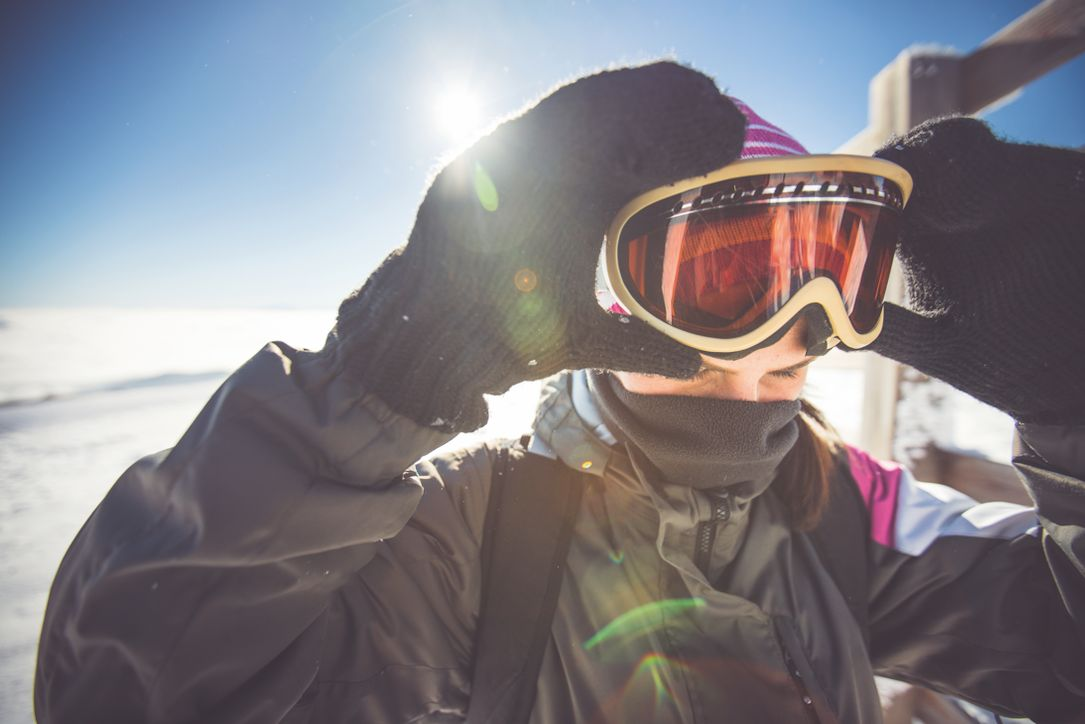 Voorkom sneeuwblindheid
