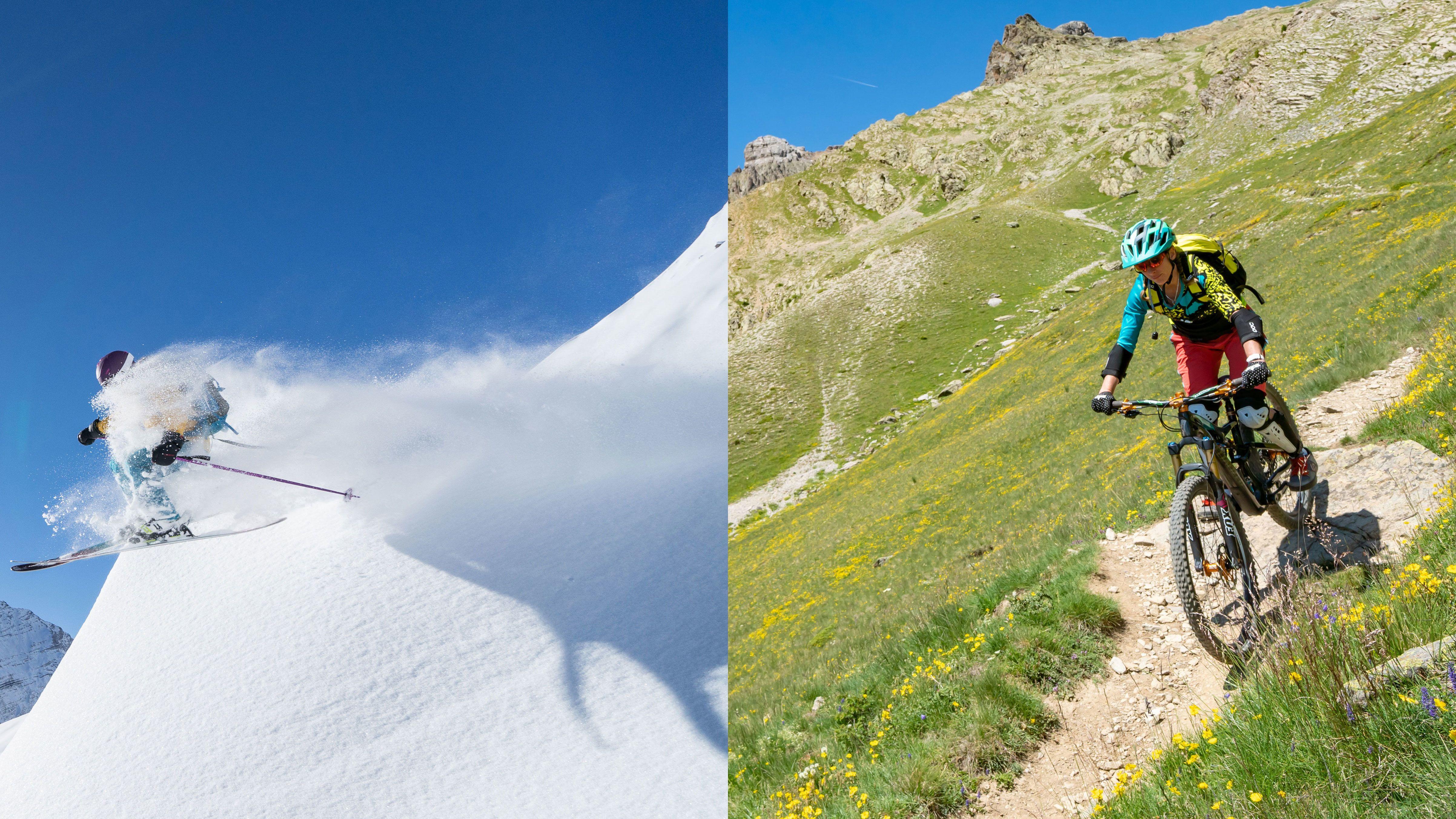 Zomer versus winter op dezelfde berg