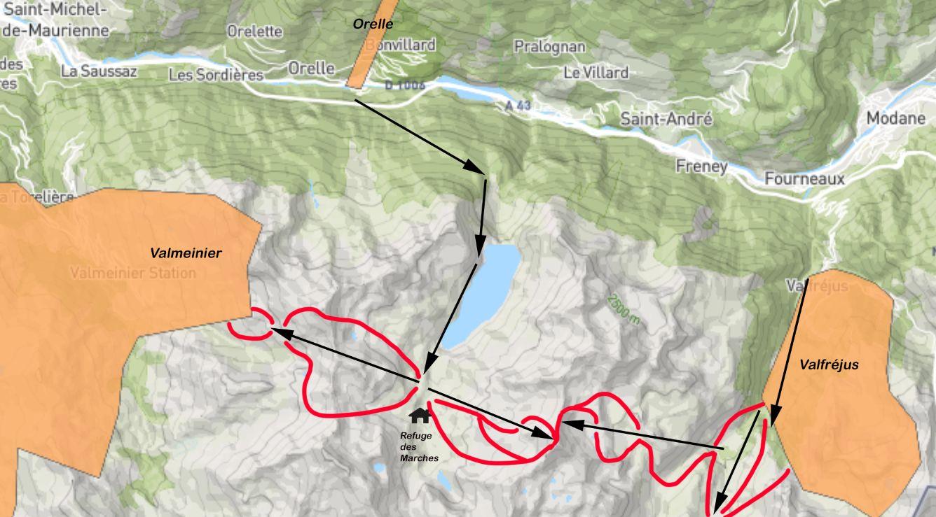 Megaproject! Verbinding Valmeinier, Valfréjus en Orelle: 1000km aaneengesloten pistes