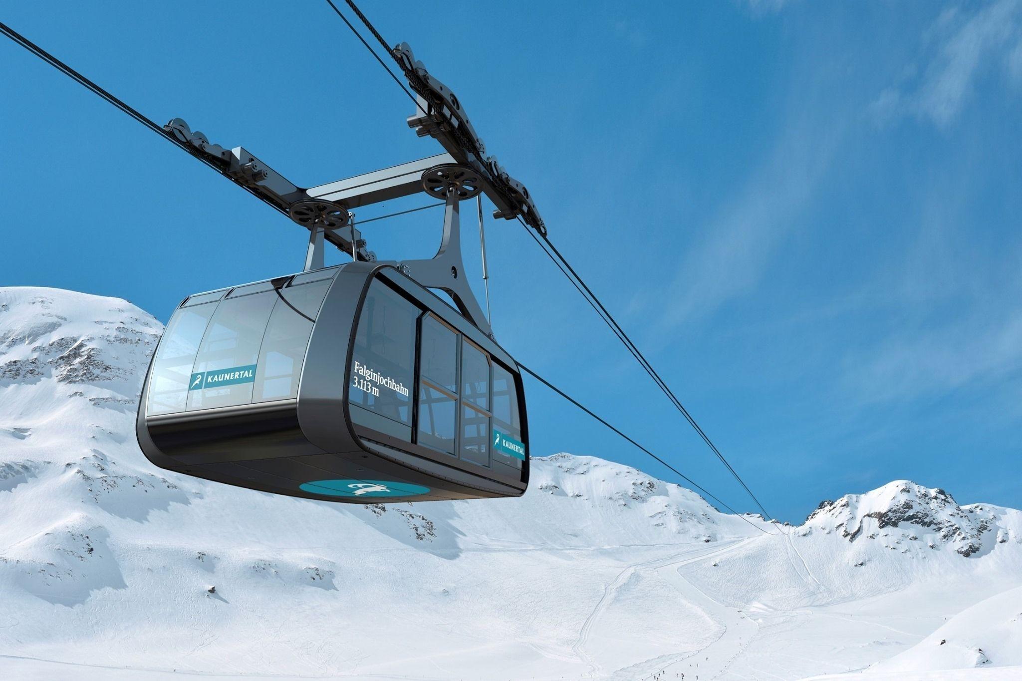 Nieuwe 100-persoons skilift op de Kaunertaler Gletscher: de Falginjochbahn (deel 3)