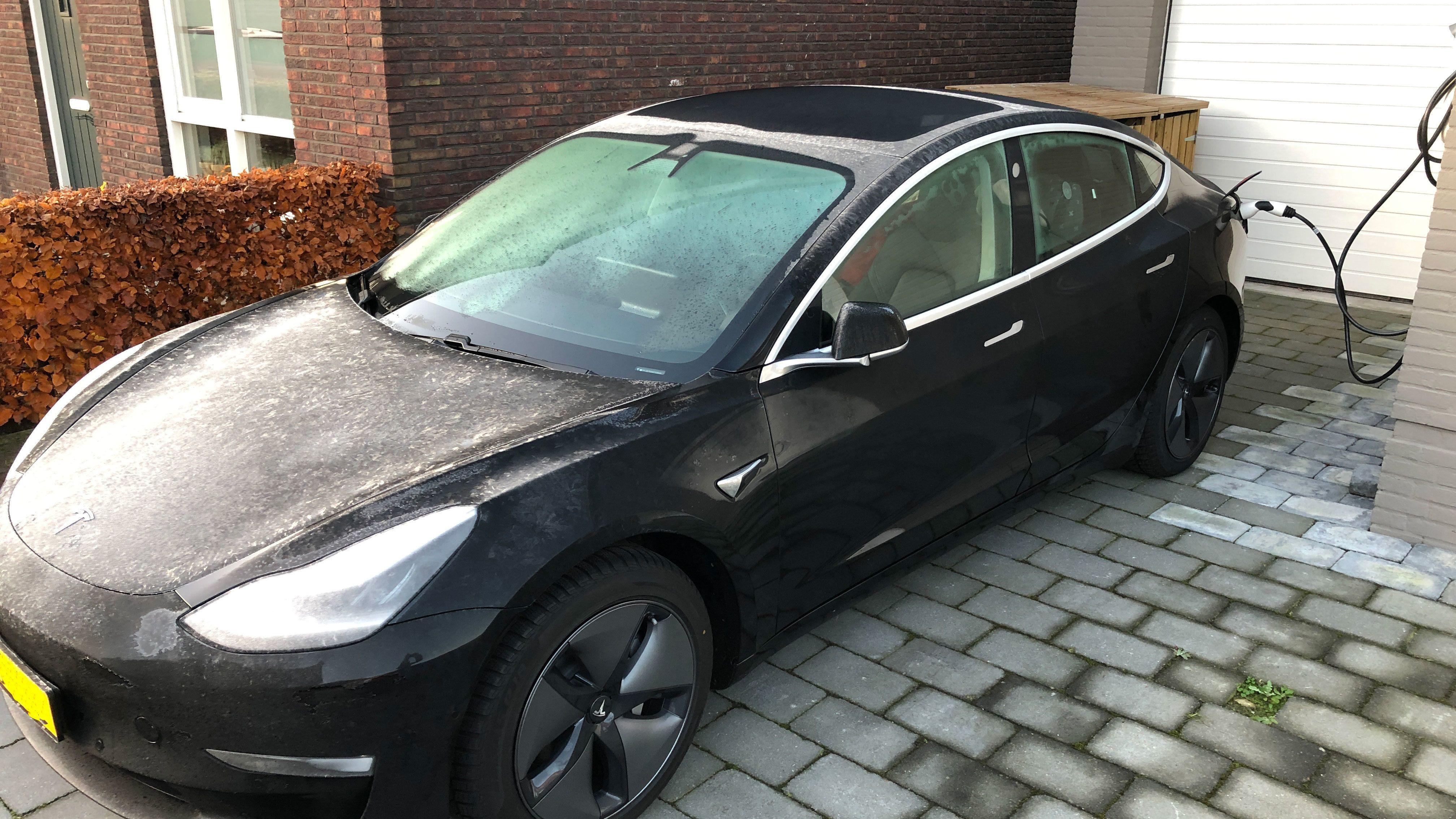 Met een elektrische auto op wintersport