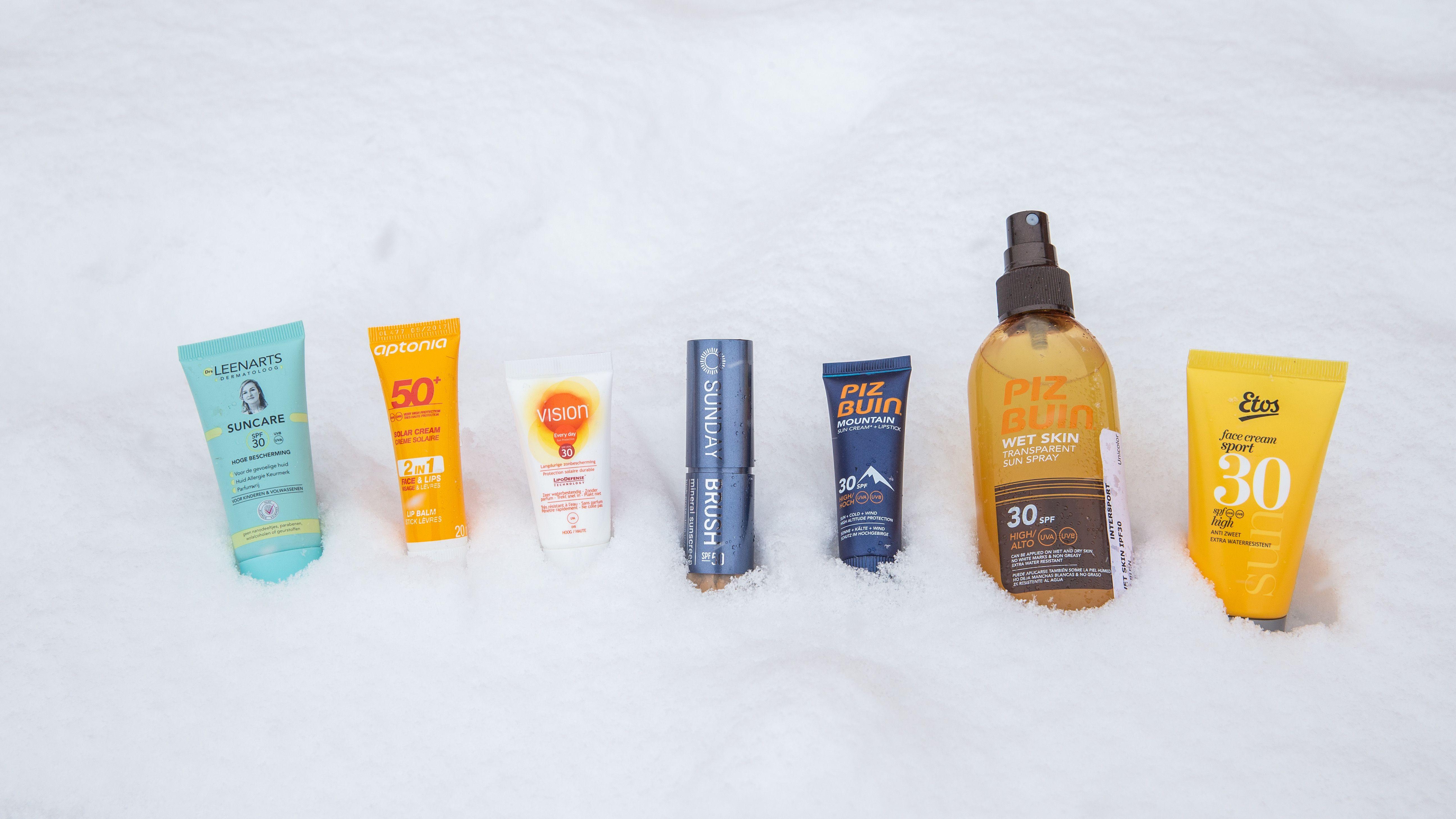 Wintersport zonnebrand test (update 2020)