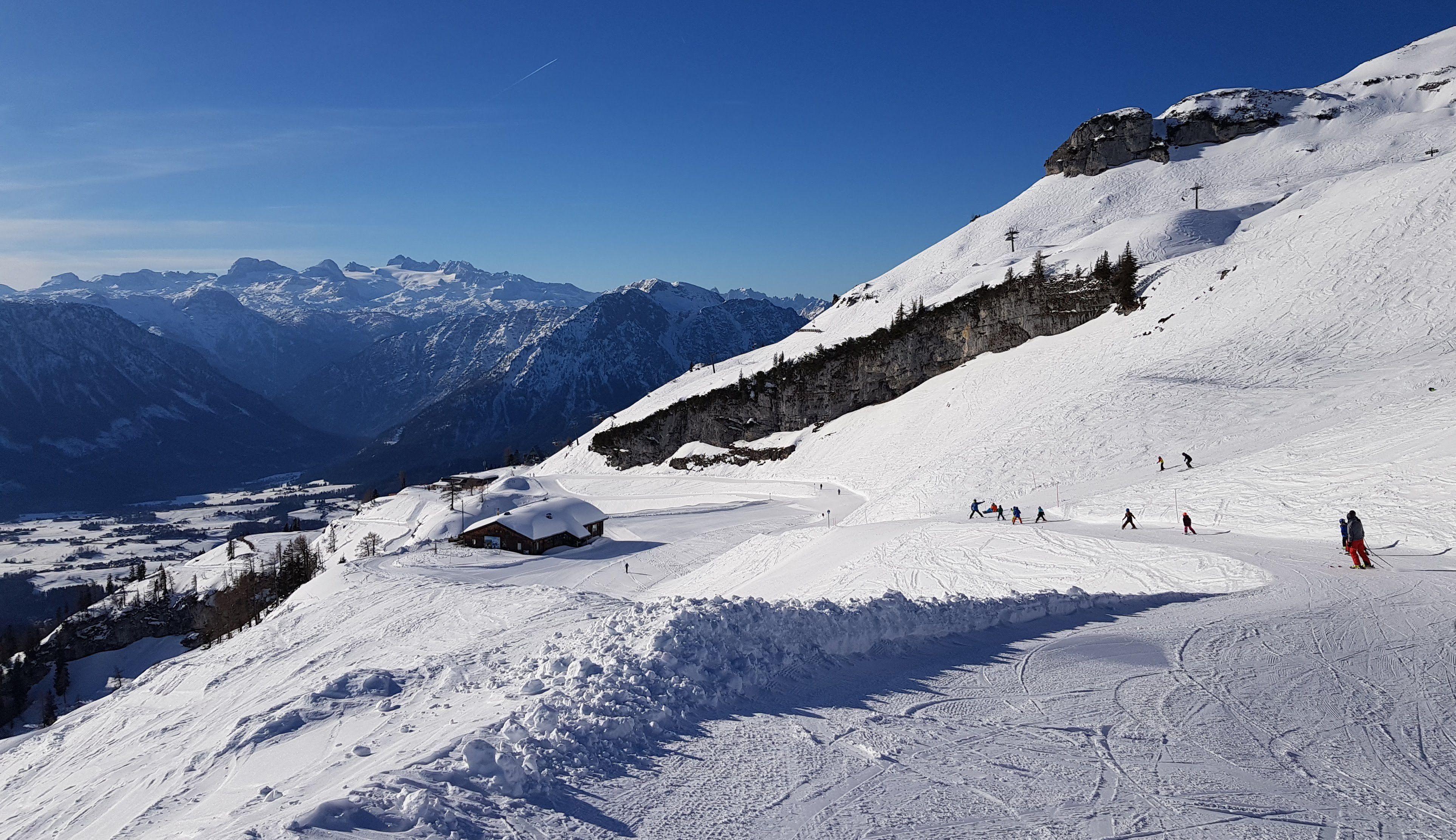 Wintersporters worden op hun wenken bediend
